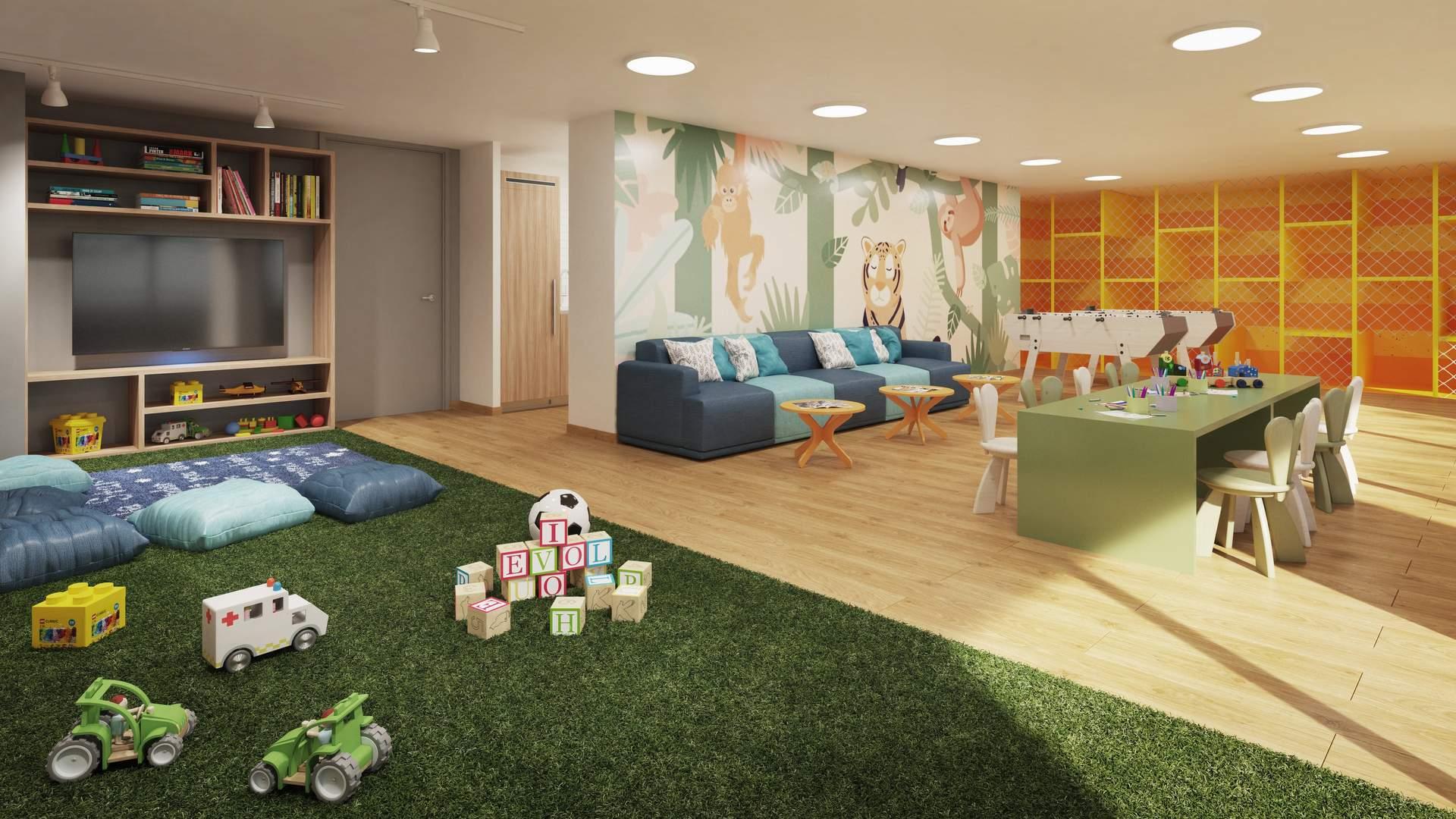 Departamento con niños: ¿cómo hacer una sala común infantil?